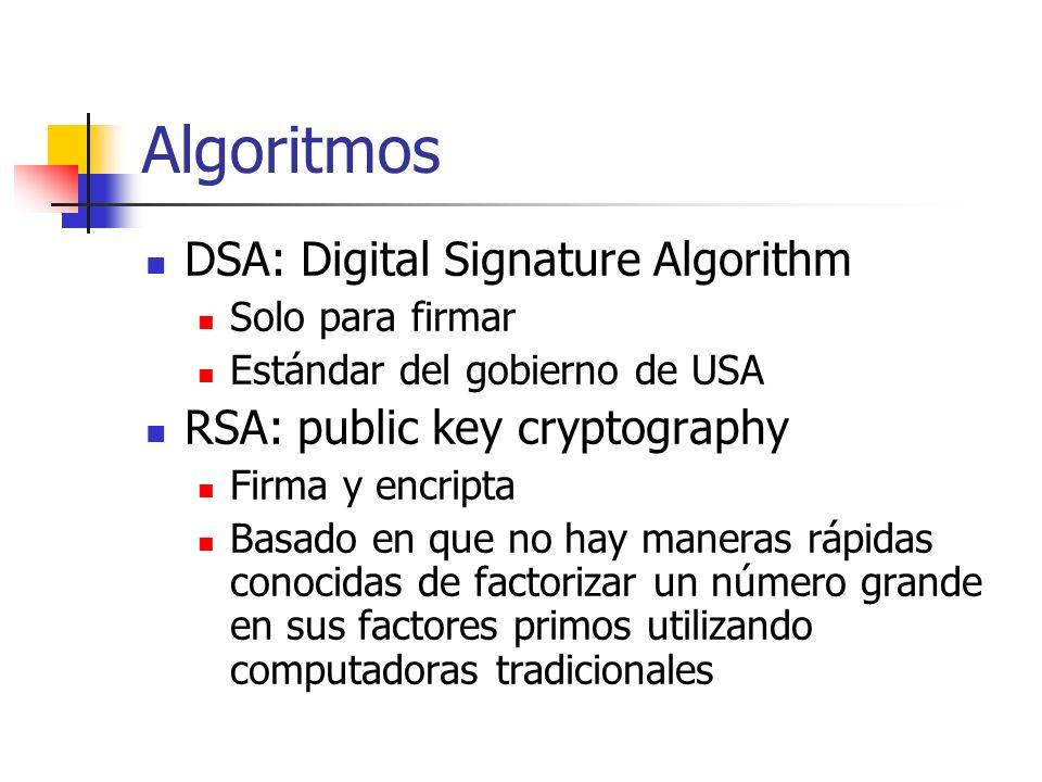 Algoritmos DSA: Digital Signature Algorithm