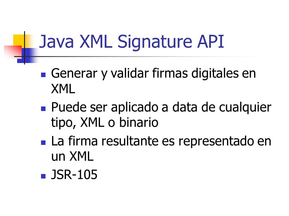 Java XML Signature API Generar y validar firmas digitales en XML