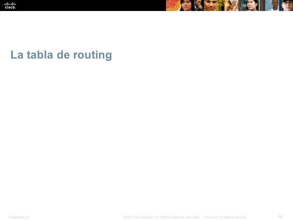 La tabla de routing 7,4