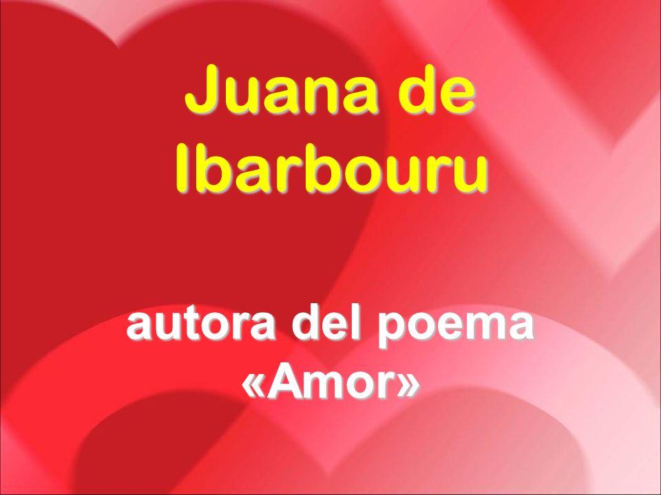 autora del poema «Amor»