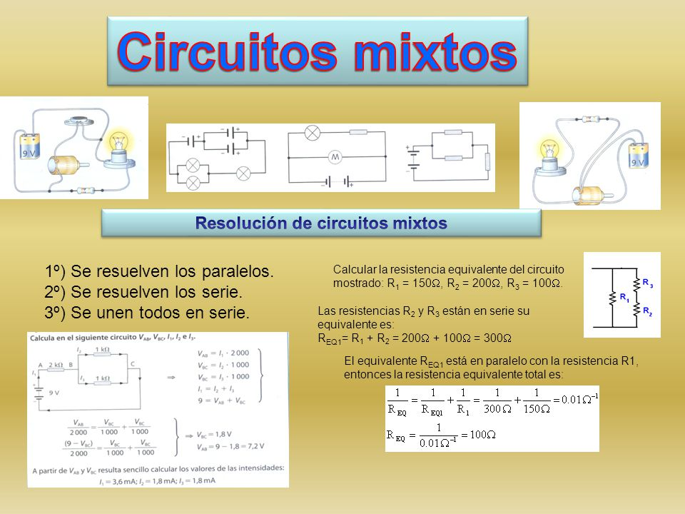 Resolución de circuitos mixtos