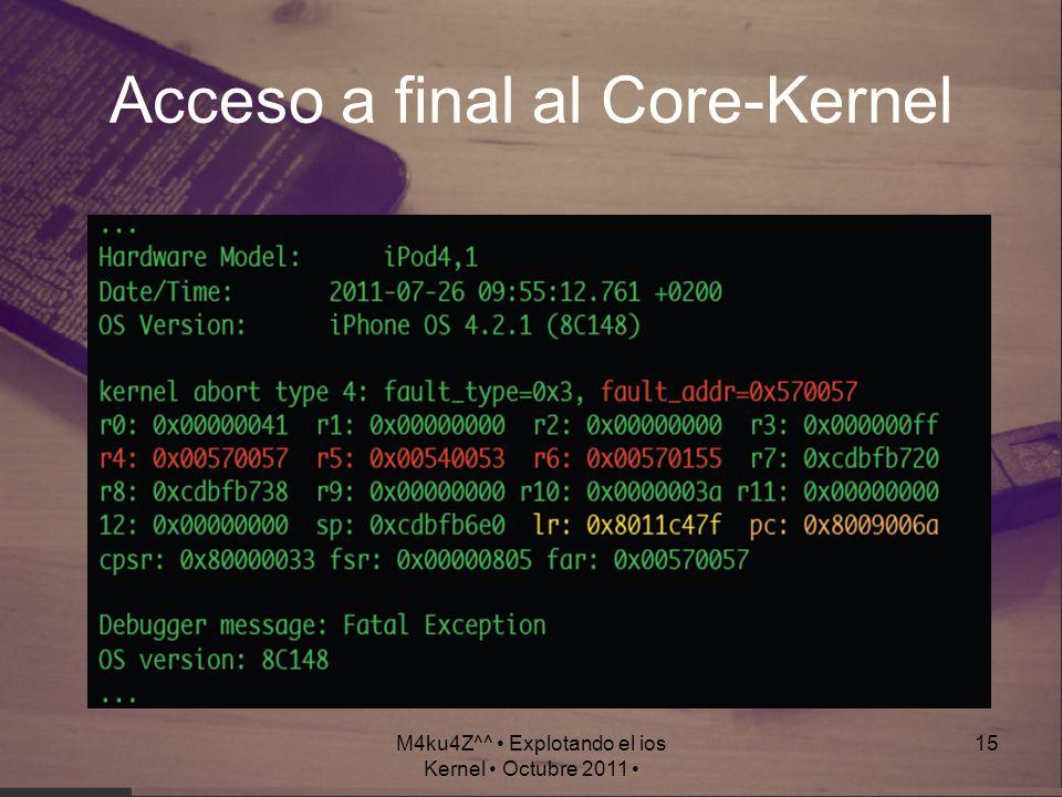 Acceso a final al Core-Kernel