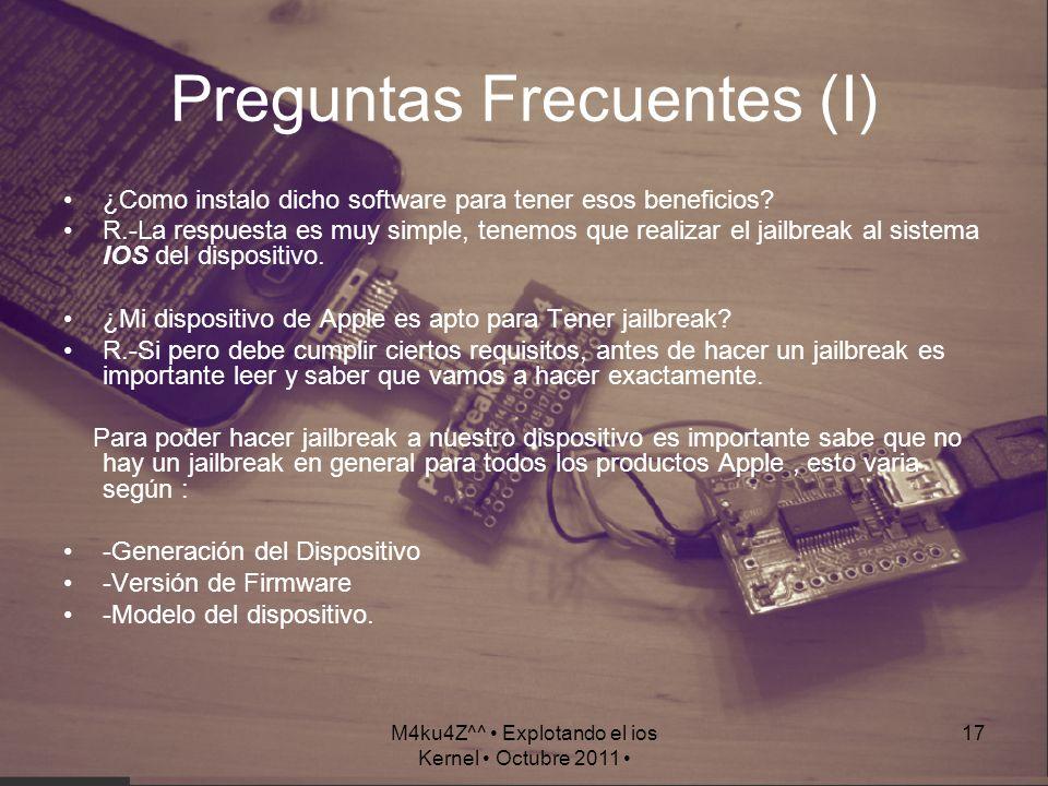 Preguntas Frecuentes (I)