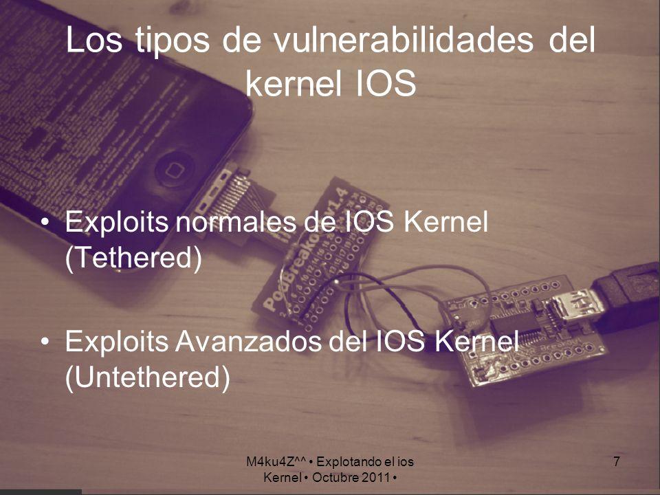 Los tipos de vulnerabilidades del kernel IOS