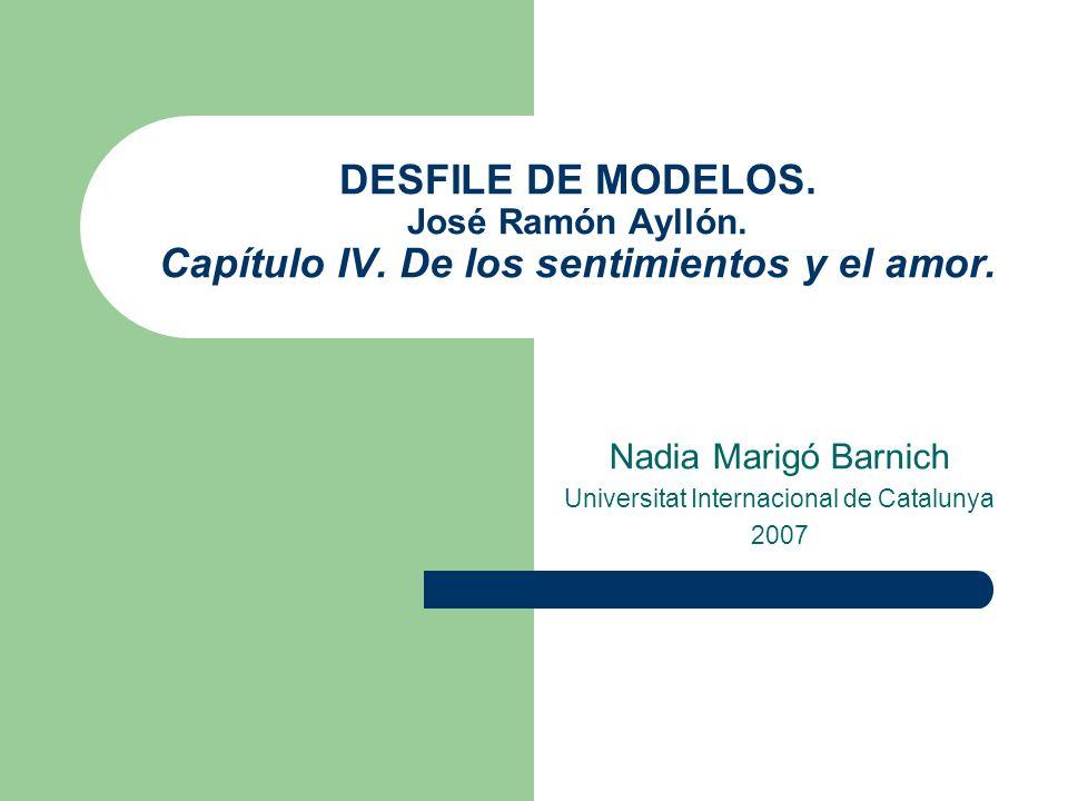 Nadia Marigó Barnich Universitat Internacional de Catalunya 2007