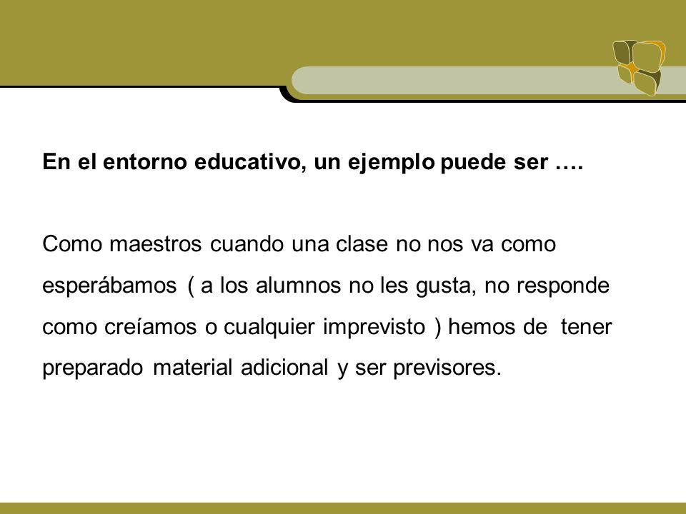 En el entorno educativo, un ejemplo puede ser ….