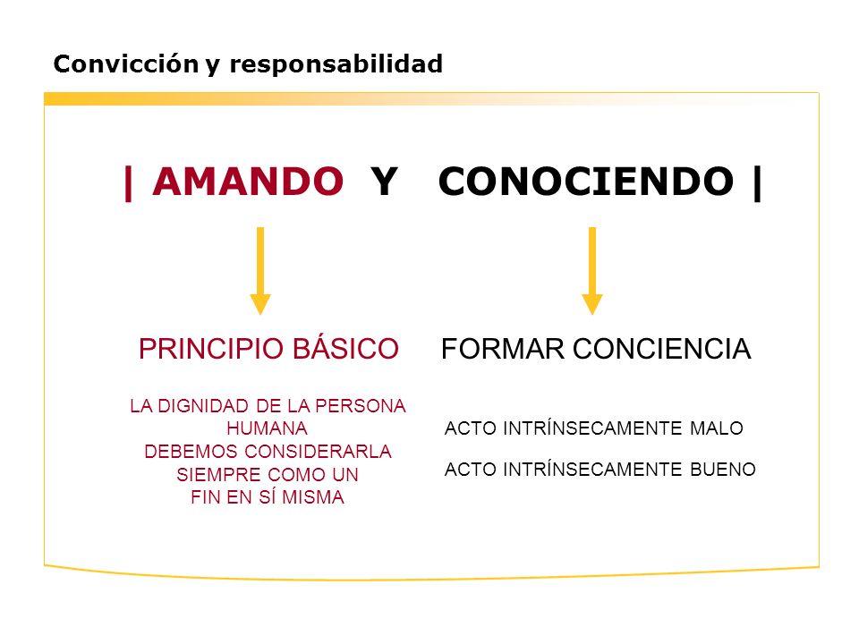 | AMANDO Y CONOCIENDO | PRINCIPIO BÁSICO FORMAR CONCIENCIA