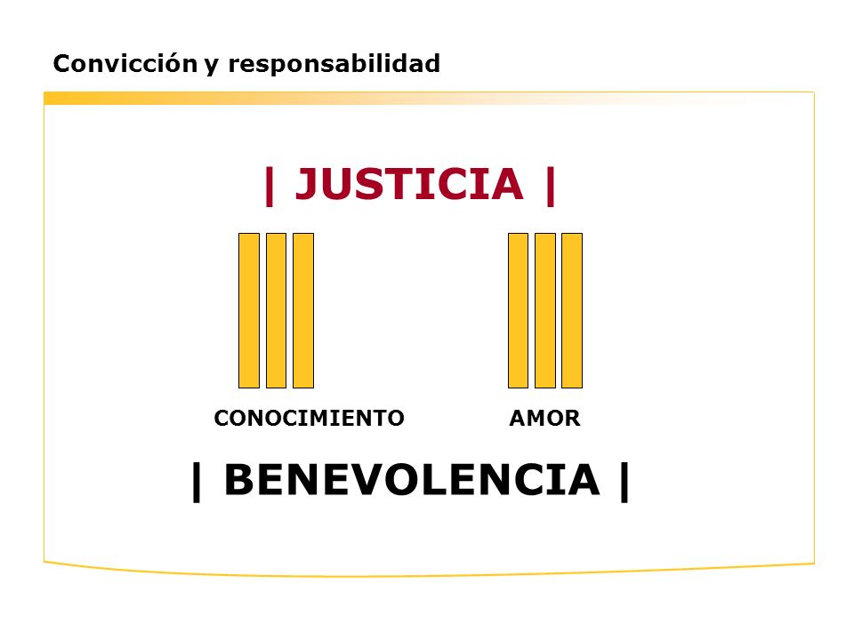 | JUSTICIA | | BENEVOLENCIA |
