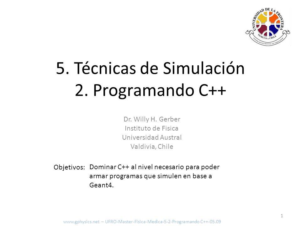 5. Técnicas de Simulación 2. Programando C++