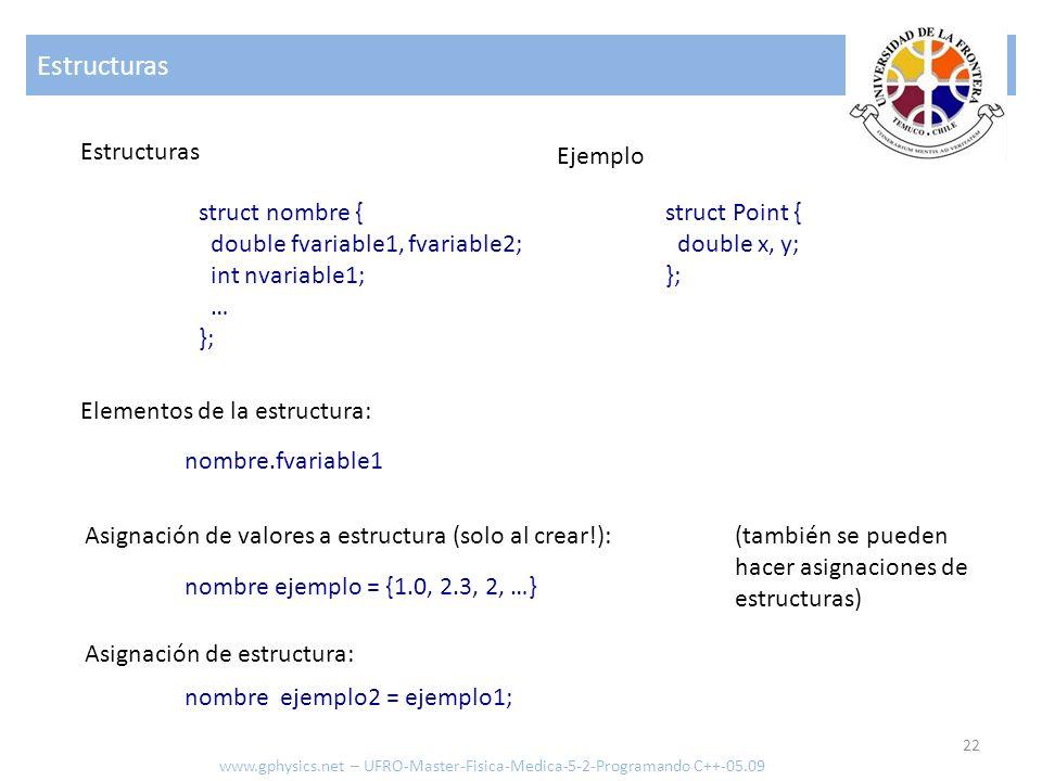 Estructuras Estructuras Ejemplo