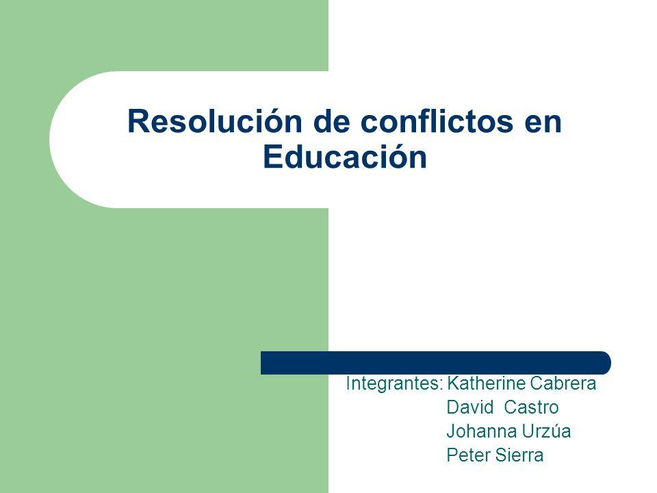 Resolución de conflictos en Educación