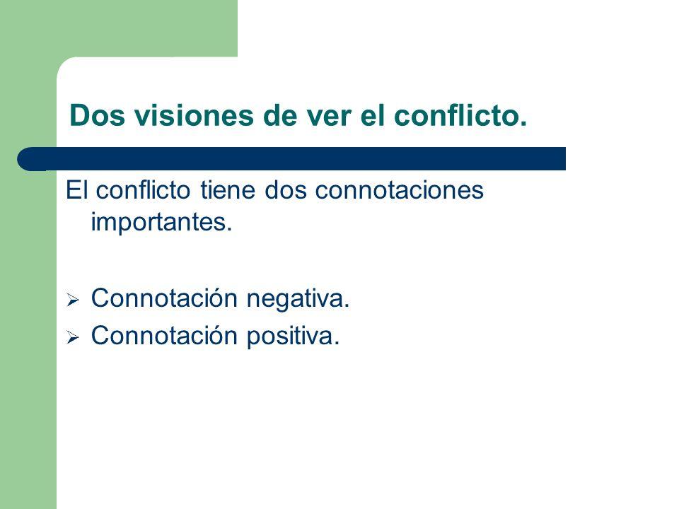 Dos visiones de ver el conflicto.