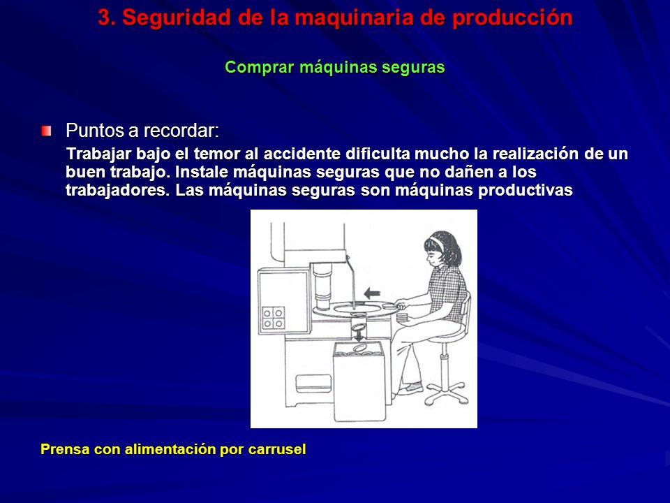 3. Seguridad de la maquinaria de producción Comprar máquinas seguras