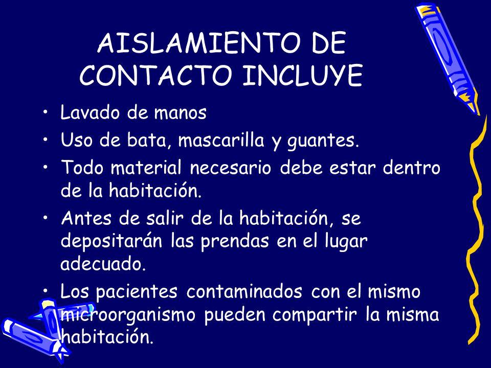AISLAMIENTO DE CONTACTO INCLUYE