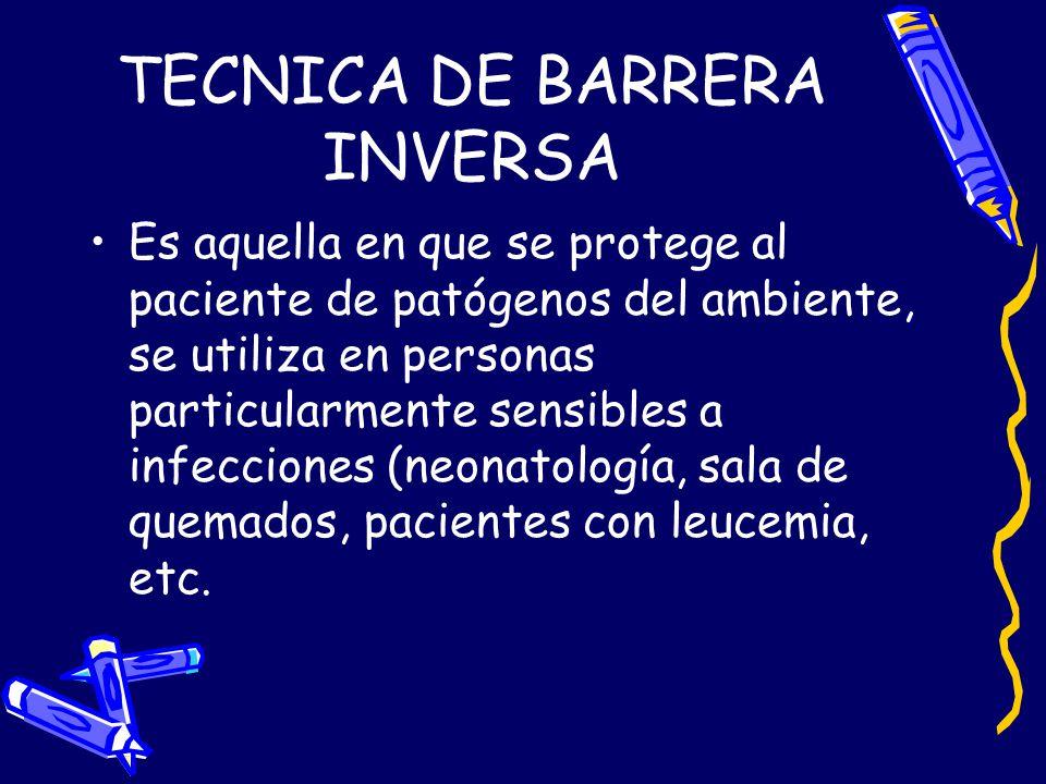 TECNICA DE BARRERA INVERSA