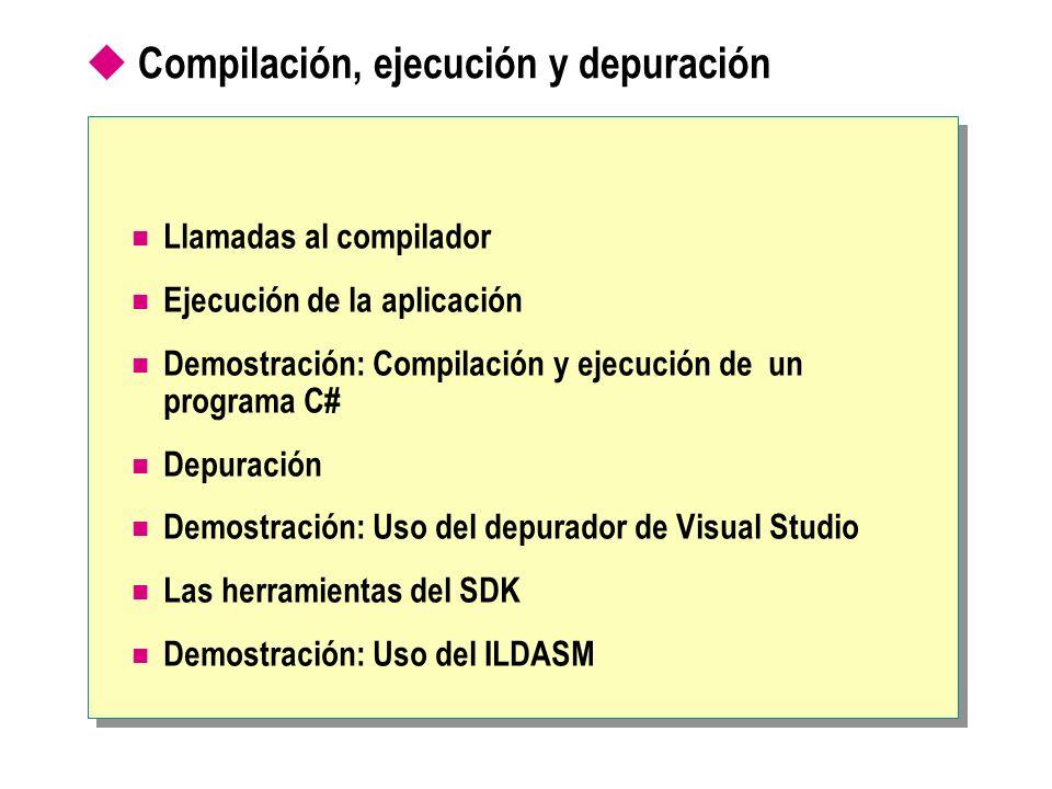 Compilación, ejecución y depuración