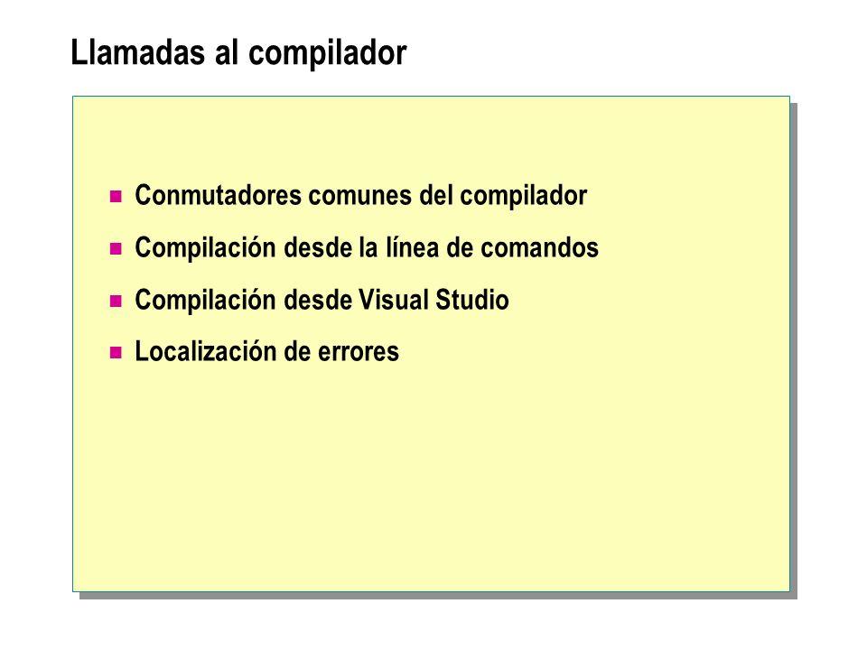Llamadas al compilador