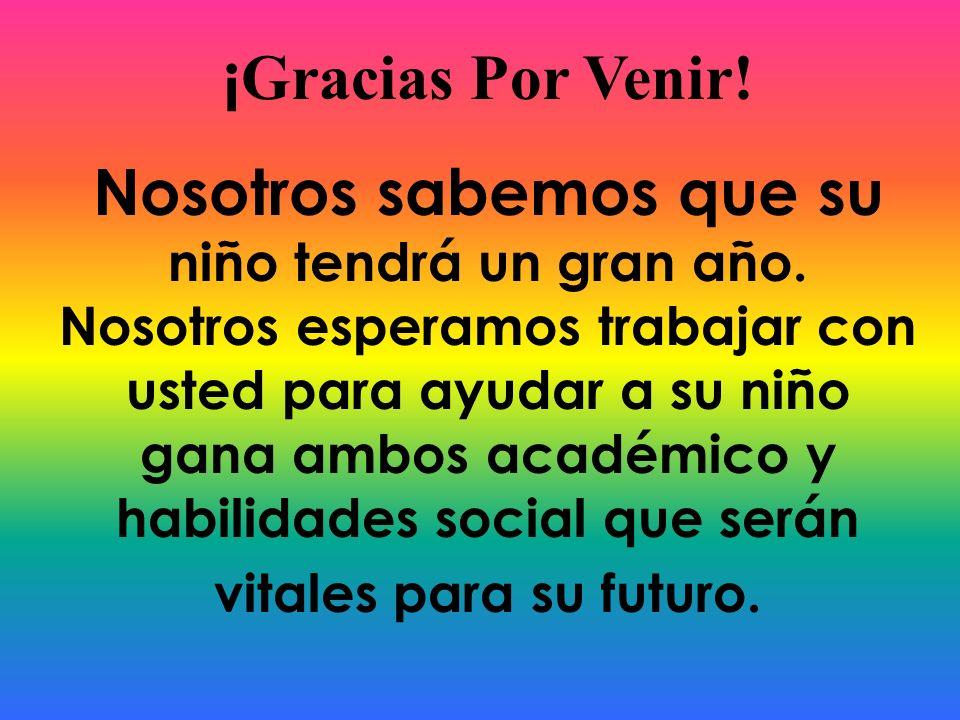 ¡Gracias Por Venir!
