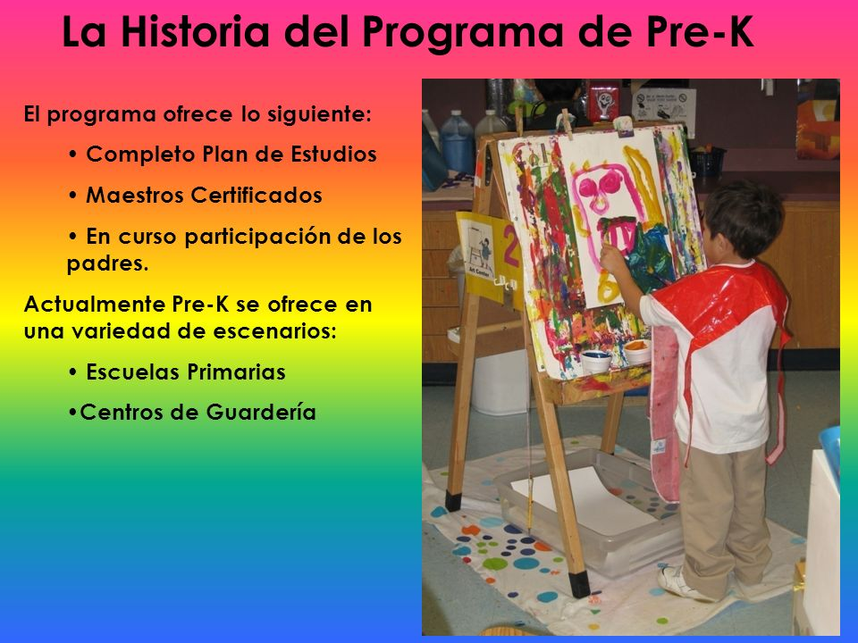 La Historia del Programa de Pre-K