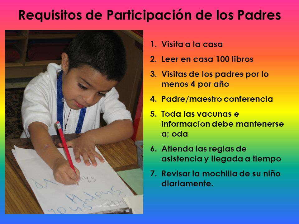 Requisitos de Participación de los Padres