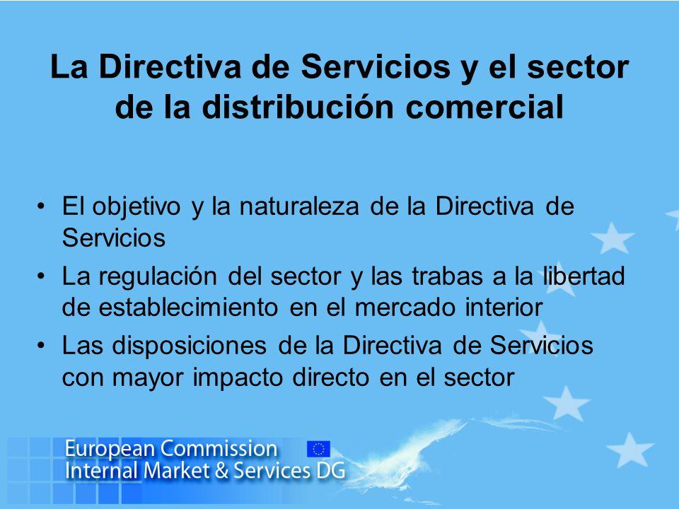 La Directiva de Servicios y el sector de la distribución comercial