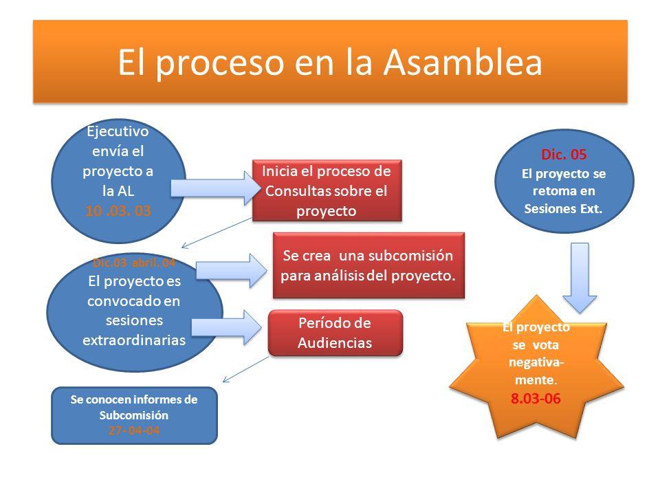 El proceso en la Asamblea