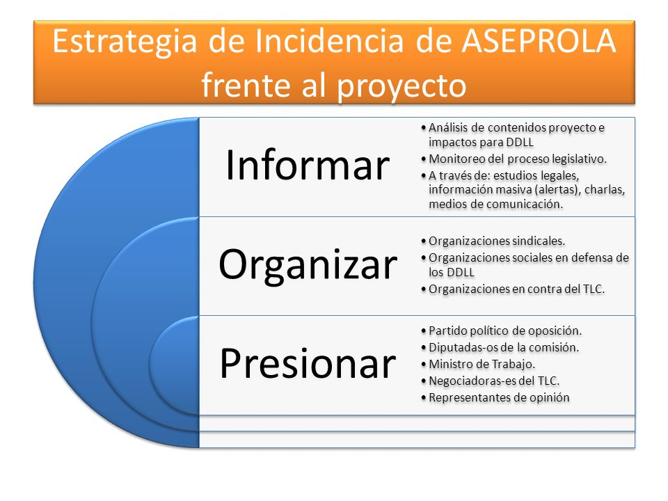 Estrategia de Incidencia de ASEPROLA frente al proyecto