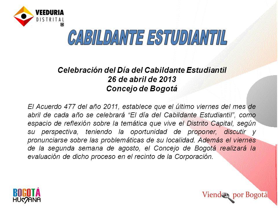 Celebración del Día del Cabildante Estudiantil
