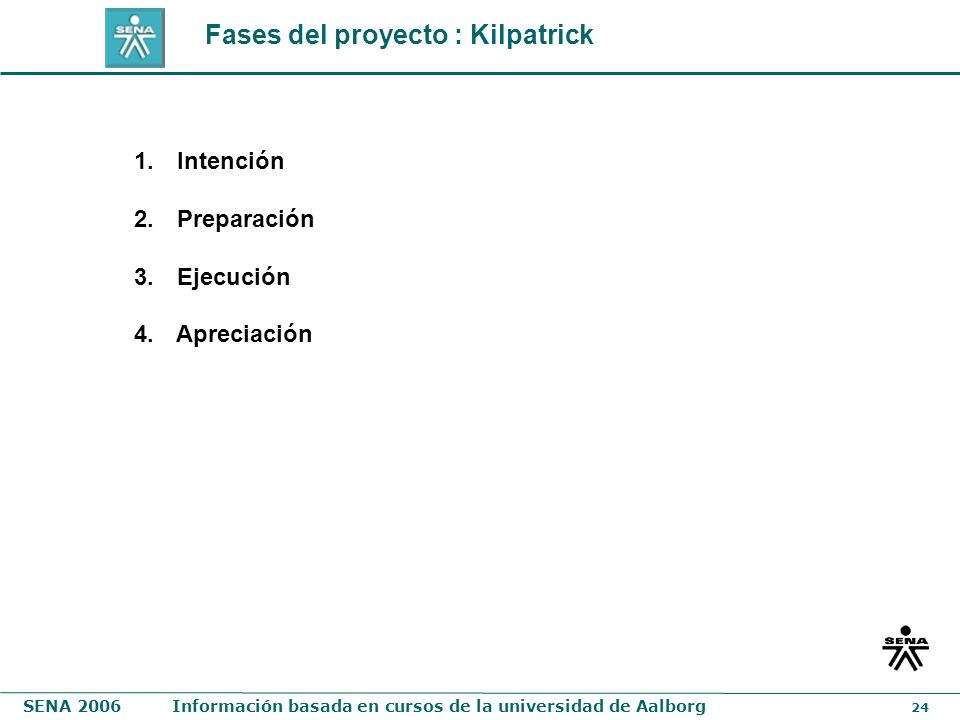 Fases del proyecto : Kilpatrick
