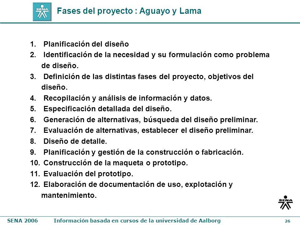 Fases del proyecto : Aguayo y Lama