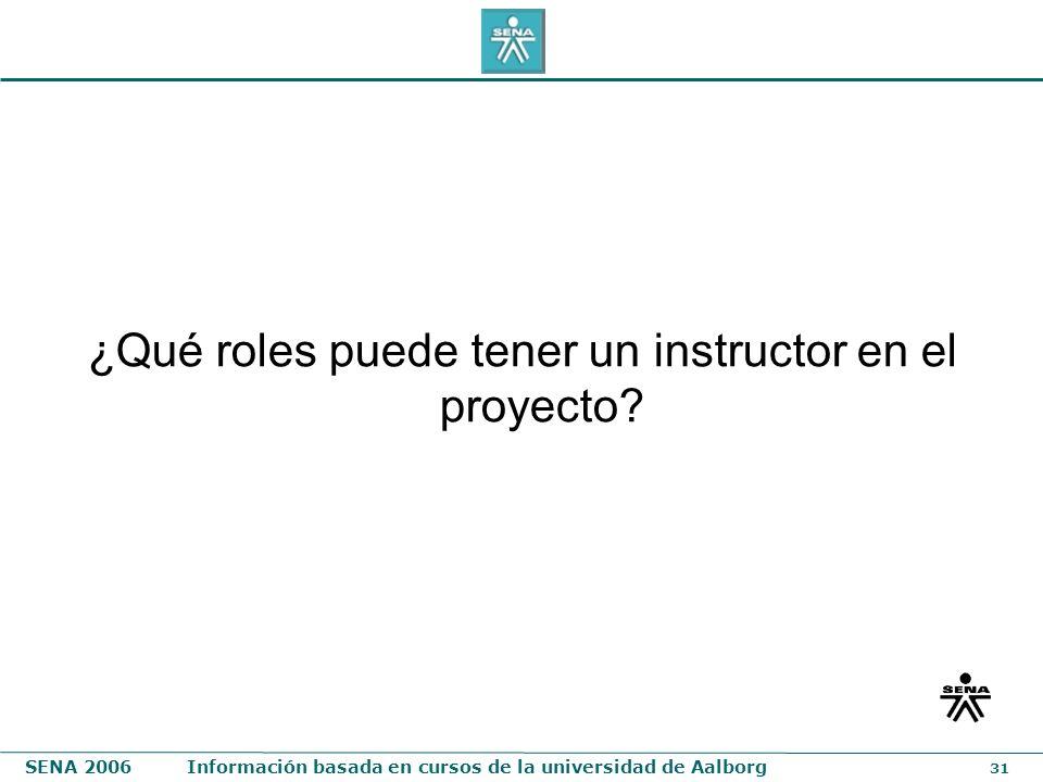 ¿Qué roles puede tener un instructor en el proyecto
