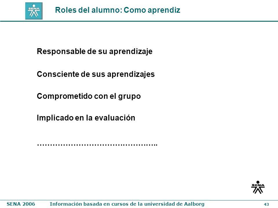 Roles del alumno: Como aprendiz