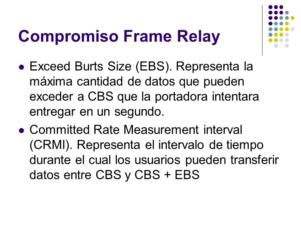 Compromiso Frame Relay