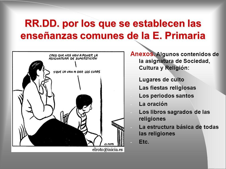 RR. DD. por los que se establecen las enseñanzas comunes de la E