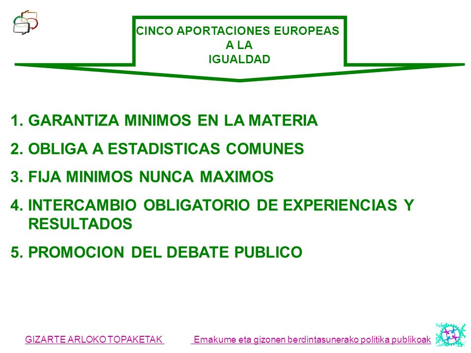 CINCO APORTACIONES EUROPEAS