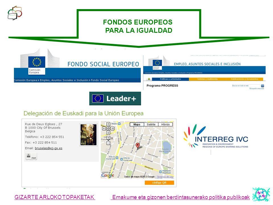 FONDOS EUROPEOS PARA LA IGUALDAD