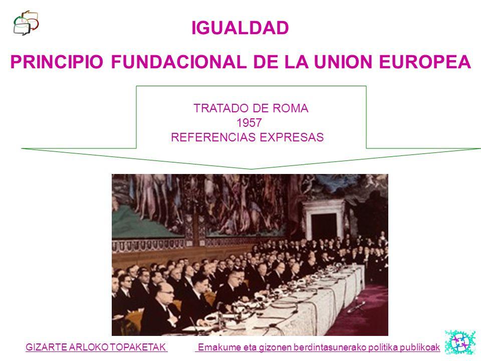 PRINCIPIO FUNDACIONAL DE LA UNION EUROPEA