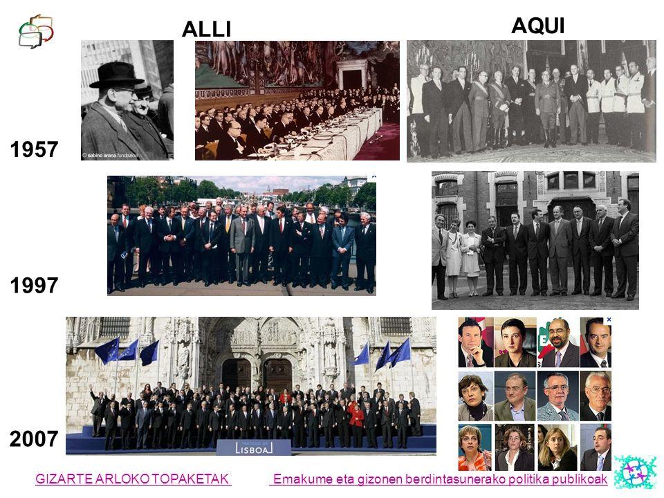 ALLI AQUI. 1957. 1997. 2007.