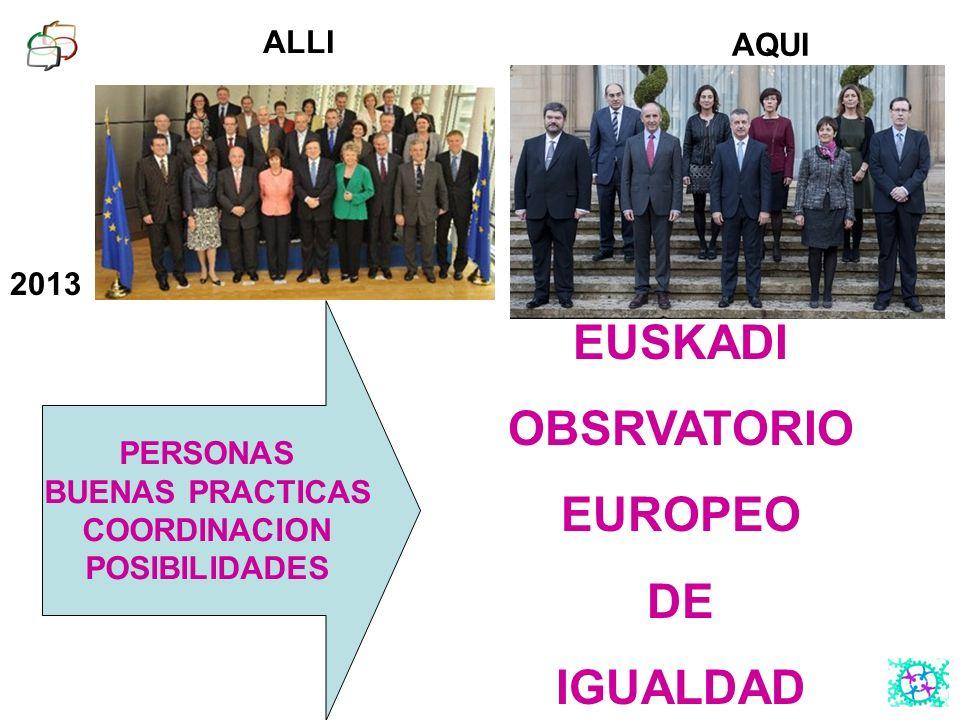 EUSKADI OBSRVATORIO EUROPEO DE IGUALDAD