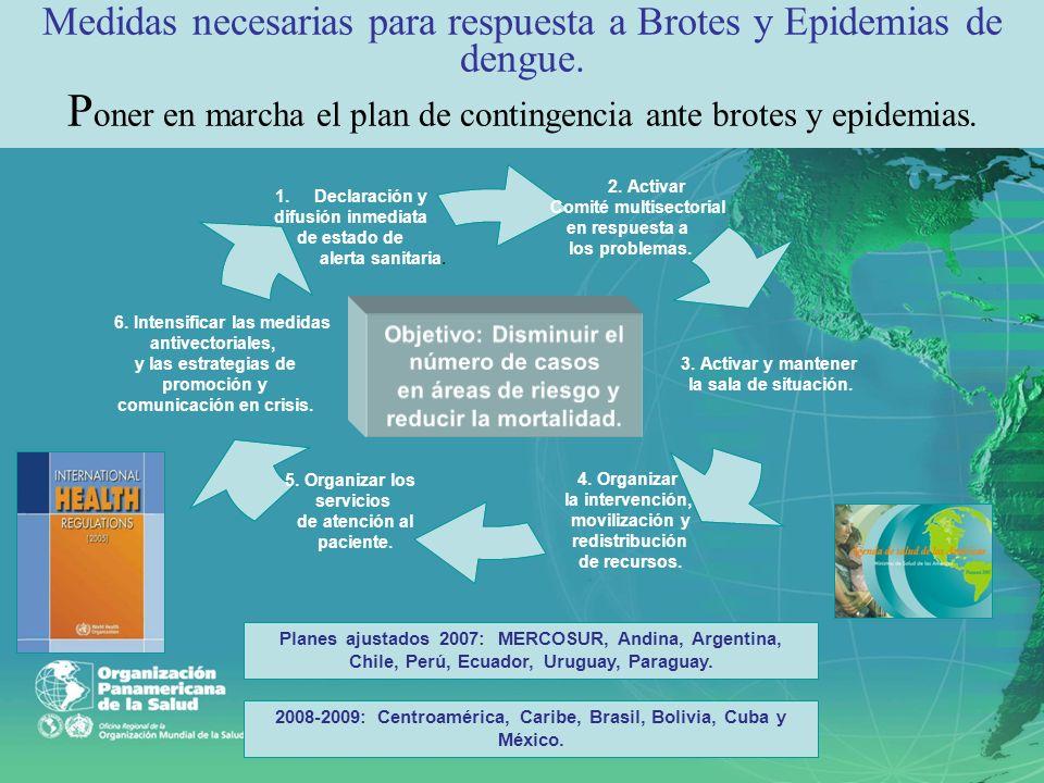 2008-2009: Centroamérica, Caribe, Brasil, Bolivia, Cuba y México.