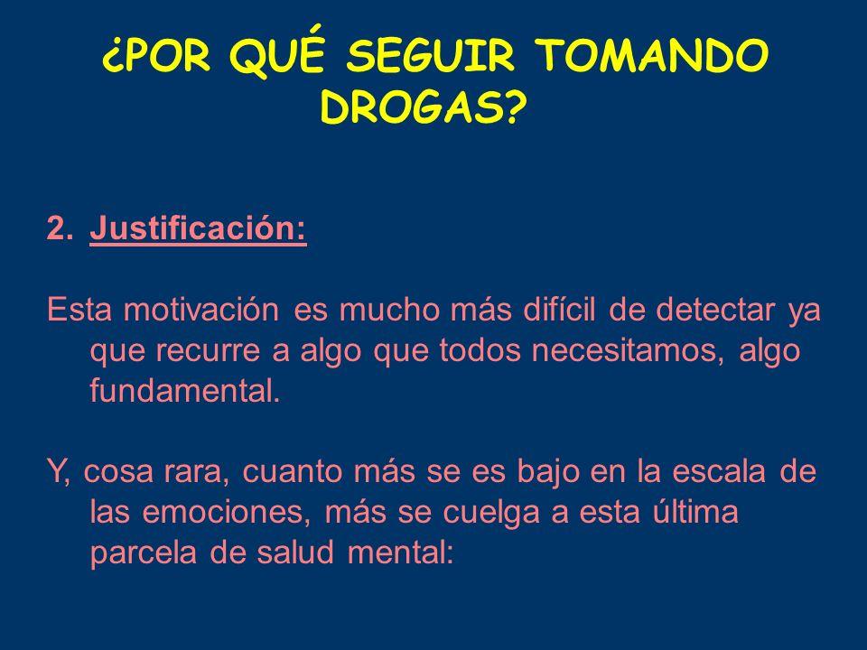 ¿POR QUÉ SEGUIR TOMANDO DROGAS