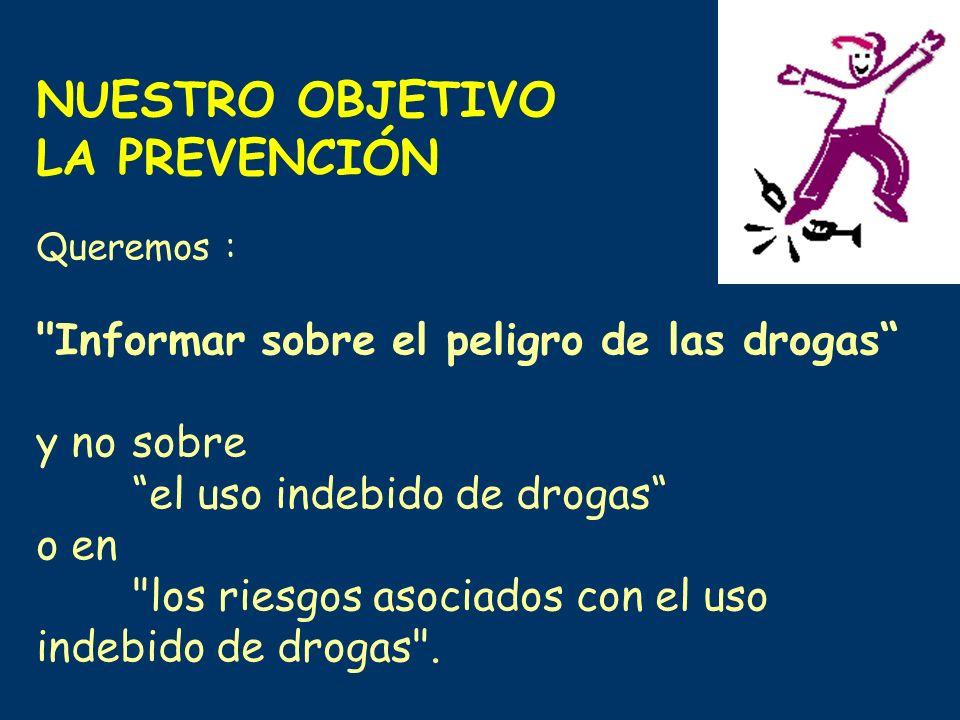 LA PREVENCIÓN Informar sobre el peligro de las drogas y no sobre