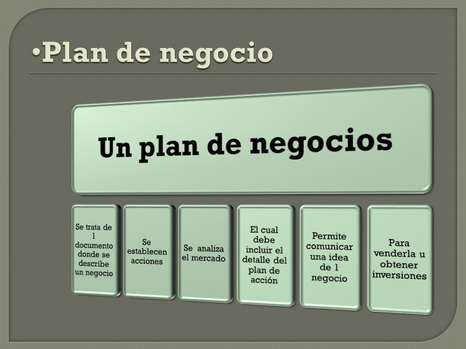 Un plan de negocios Plan de negocio