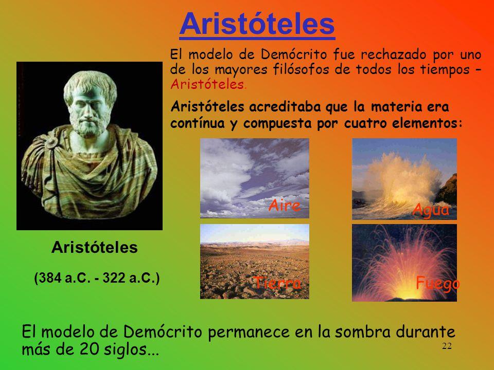 Aristóteles Aire Agua Aristóteles (384 a.C. - 322 a.C.) Tierra Fuego