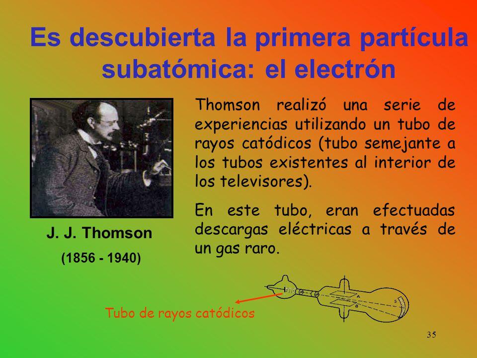Es descubierta la primera partícula subatómica: el electrón