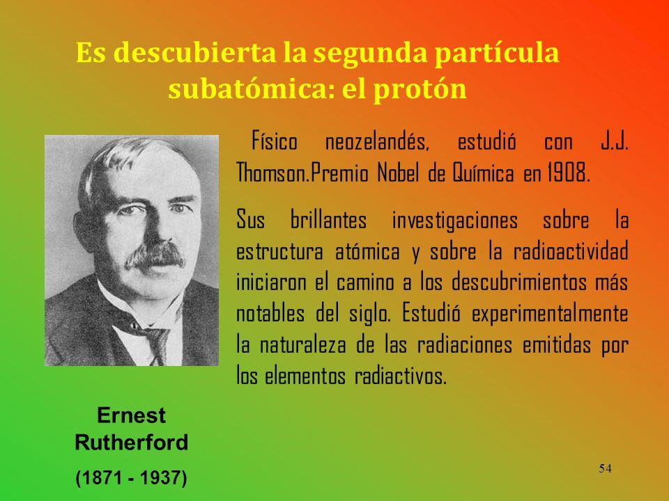 Es descubierta la segunda partícula subatómica: el protón