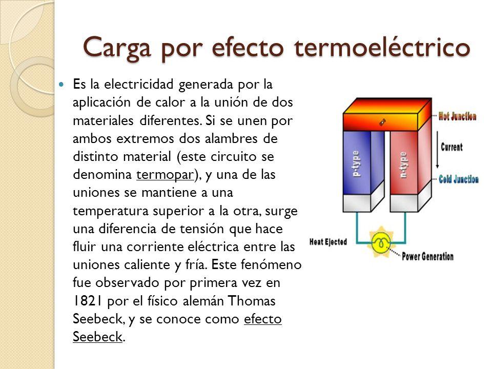 Carga por efecto termoeléctrico