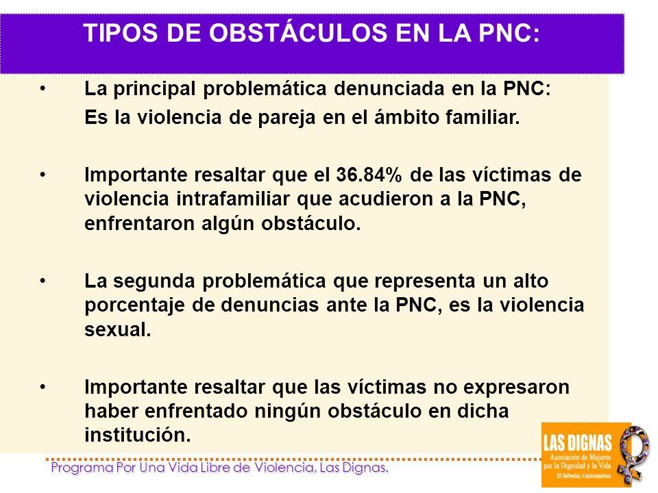 TIPOS DE OBSTÁCULOS EN LA PNC: