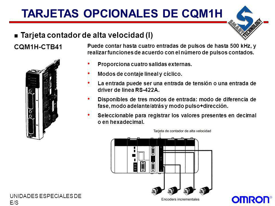 TARJETAS OPCIONALES DE CQM1H