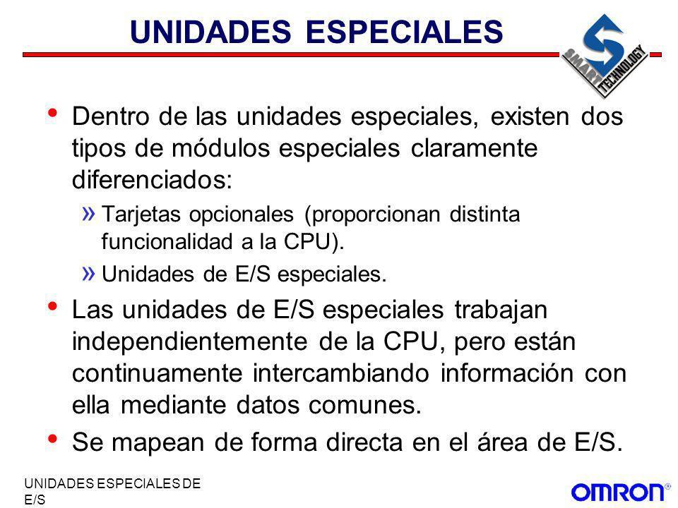 UNIDADES ESPECIALES Dentro de las unidades especiales, existen dos tipos de módulos especiales claramente diferenciados: